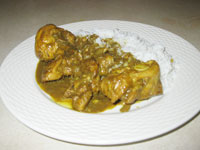 How to  curry chicken